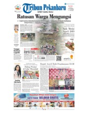 Cover Tribun Pekanbaru 12 Desember 2018