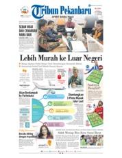 Cover Tribun Pekanbaru 12 Januari 2019