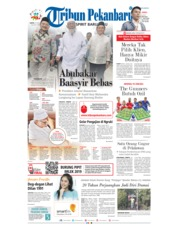 Cover Tribun Pekanbaru 19 Januari 2019