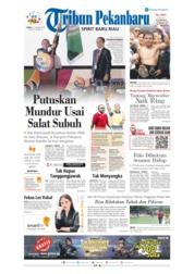 Cover Tribun Pekanbaru 21 Januari 2019