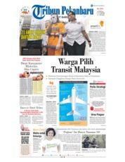 Cover Tribun Pekanbaru 22 Januari 2019