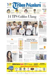 Tribun Pekanbaru Cover 19 April 2019