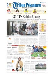Tribun Pekanbaru Cover 21 April 2019