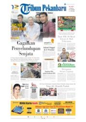 Cover Tribun Pekanbaru 21 Mei 2019