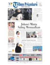 Tribun Pekanbaru Cover 20 August 2019