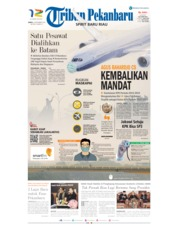 Tribun Pekanbaru Cover 14 September 2019