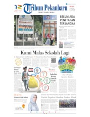 Tribun Pekanbaru Cover 22 September 2019