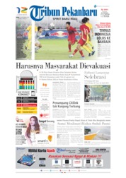 Cover Tribun Pekanbaru 23 September 2019