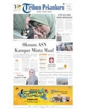 Cover Tribun Pekanbaru 13 Oktober 2019
