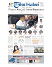 Cover Tribun Pekanbaru 22 Oktober 2019
