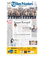 Cover Tribun Pekanbaru 24 Oktober 2019