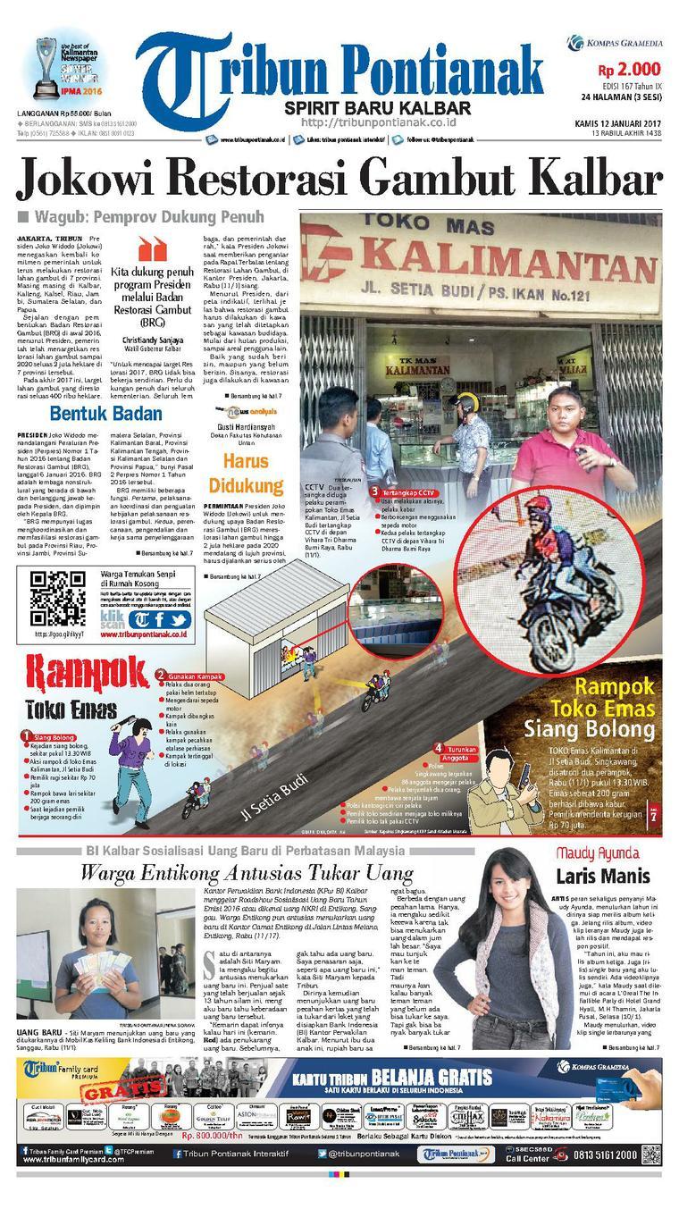Koran Digital Tribun Pontianak 12 Januari 2017
