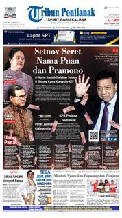 Cover Tribun Pontianak 23 Maret 2018