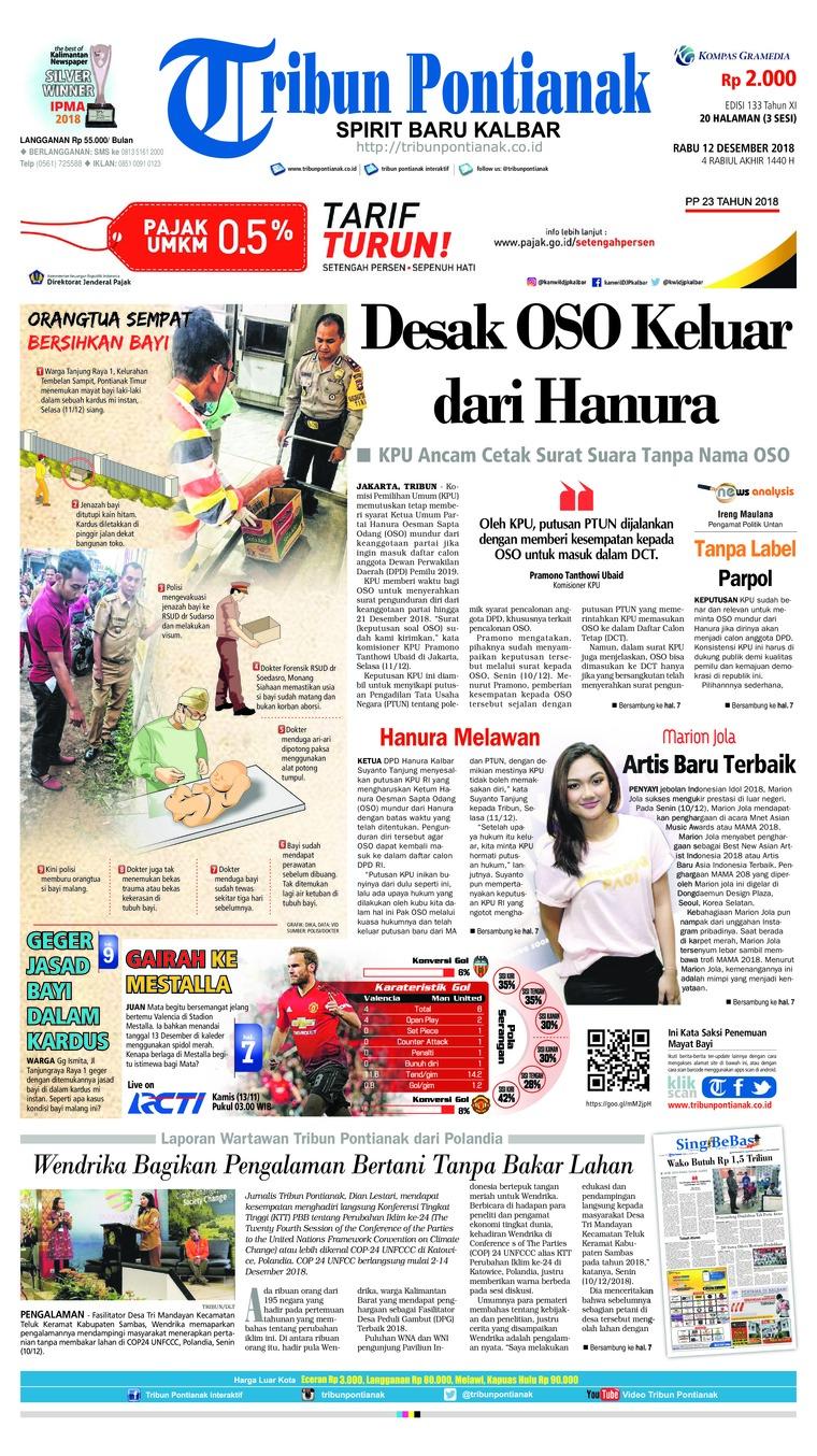 Koran Digital Tribun Pontianak 12 Desember 2018