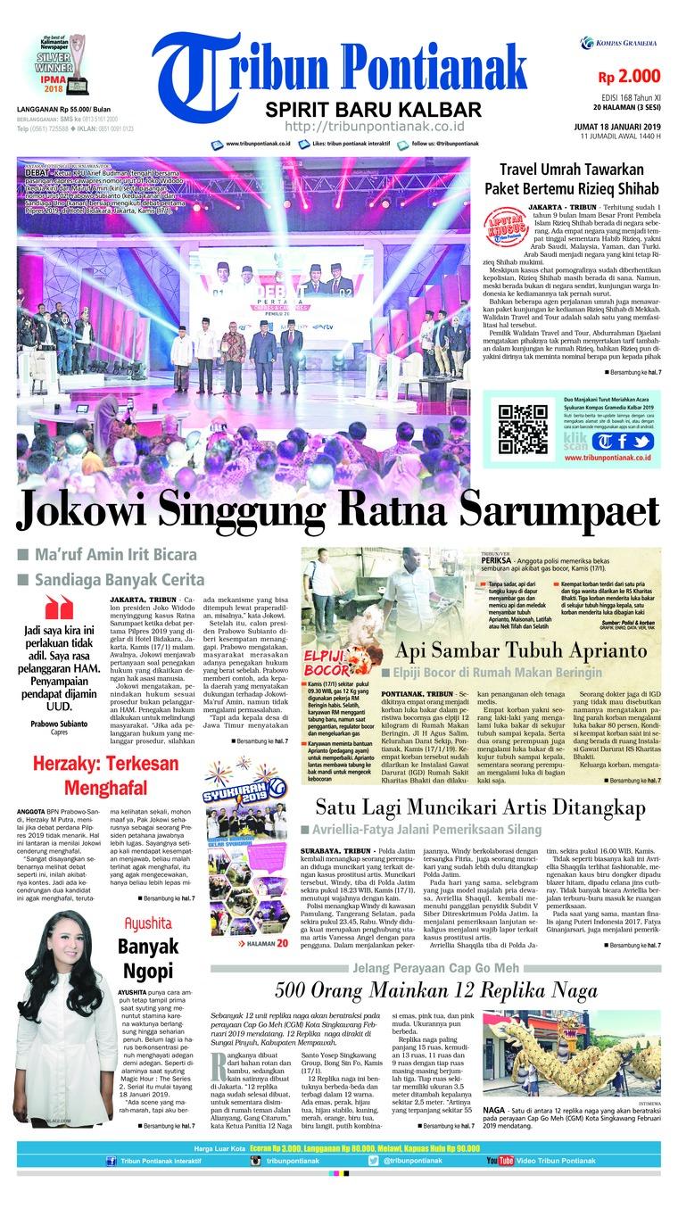 Koran Digital Tribun Pontianak 18 Januari 2019