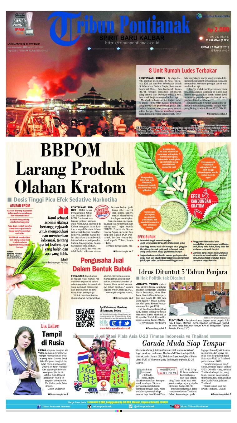 Koran Digital Tribun Pontianak 22 Maret 2019