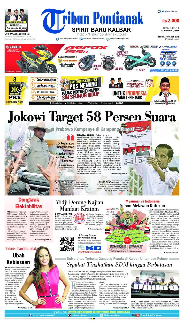 Koran Digital Tribun Pontianak 25 Maret 2019