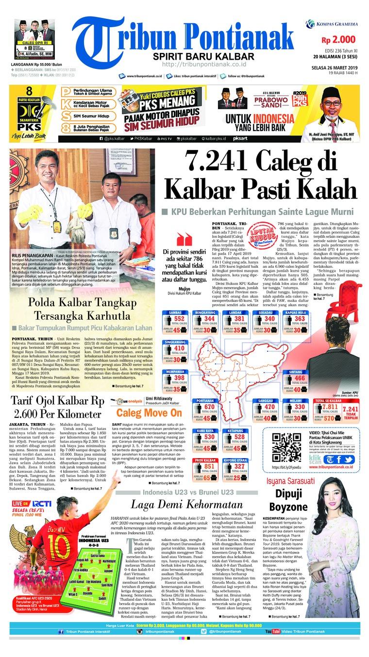 Koran Digital Tribun Pontianak 26 Maret 2019