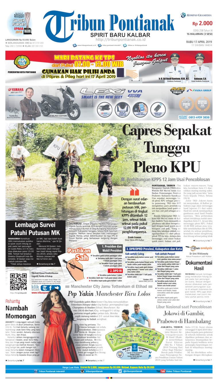 Tribun Pontianak Digital Newspaper 17 April 2019