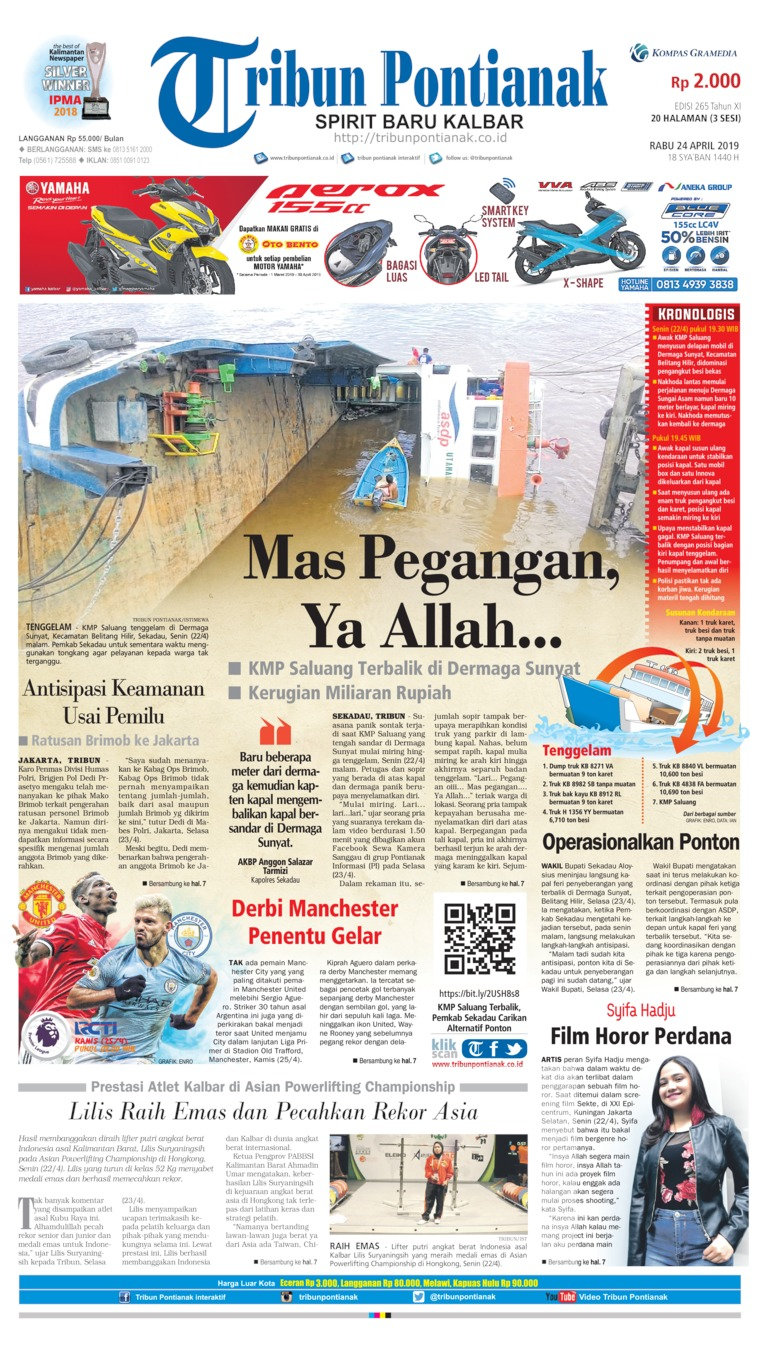 Tribun Pontianak Digital Newspaper 24 April 2019