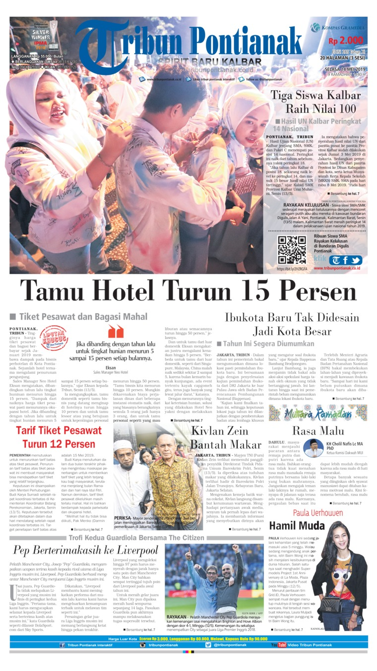 Tribun Pontianak Digital Newspaper 14 May 2019