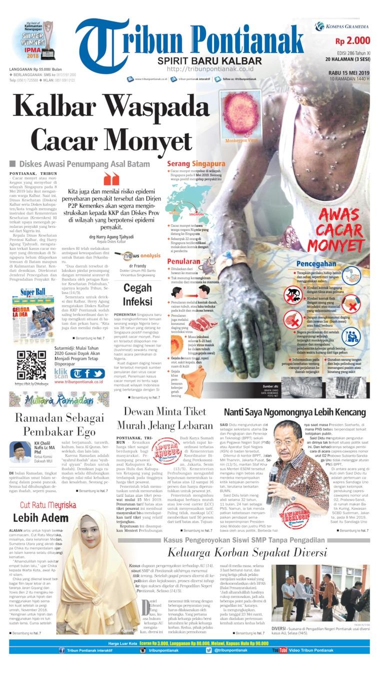 Tribun Pontianak Digital Newspaper 15 May 2019