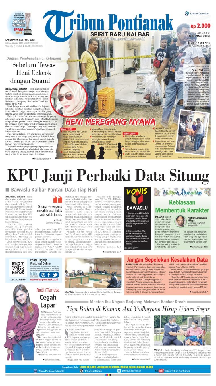 Tribun Pontianak Digital Newspaper 17 May 2019