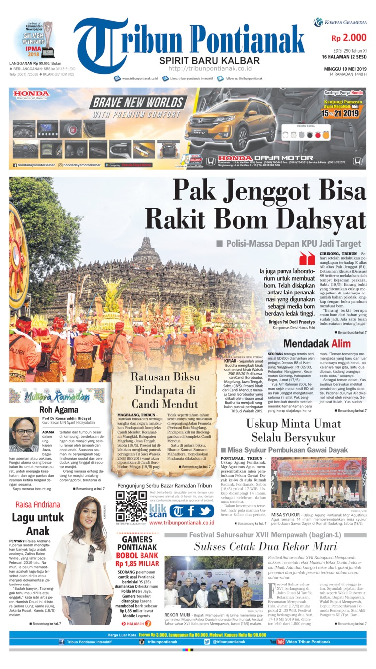 Tribun Pontianak Digital Newspaper 19 May 2019