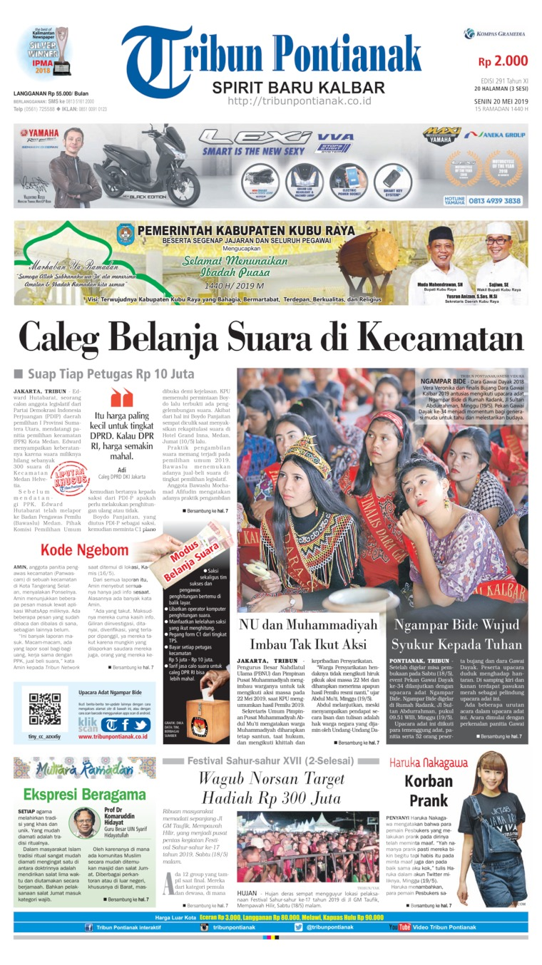 Tribun Pontianak Digital Newspaper 20 May 2019