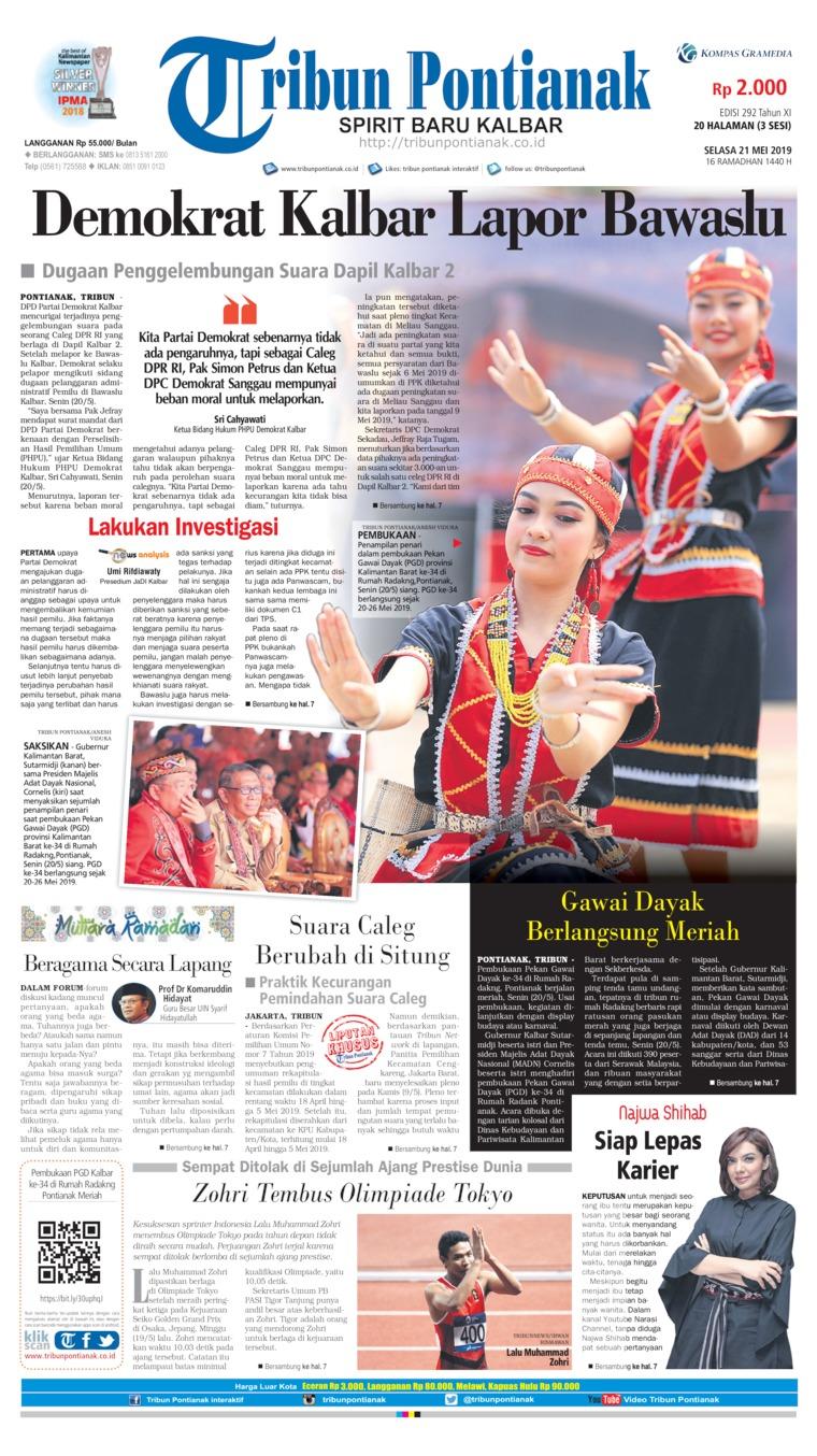 Tribun Pontianak Digital Newspaper 21 May 2019