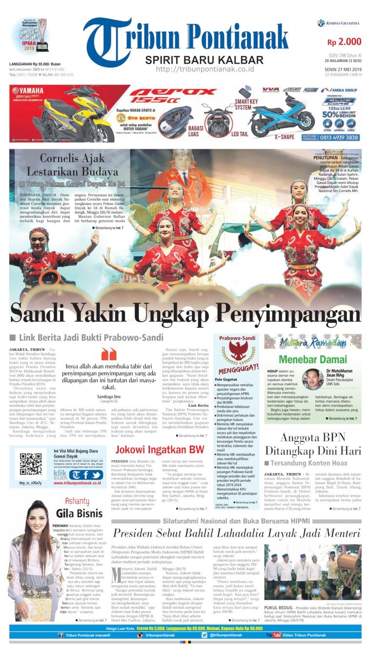 Koran Digital Tribun Pontianak 27 Mei 2019
