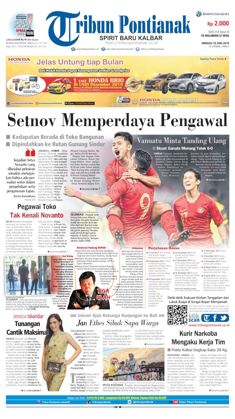 Tribun Pontianak Digital Newspaper 16 June 2019