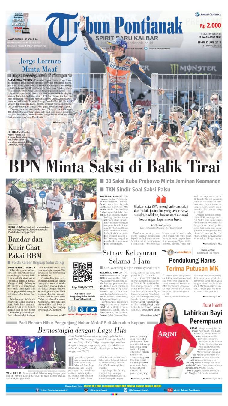 Koran Digital Tribun Pontianak 17 Juni 2019