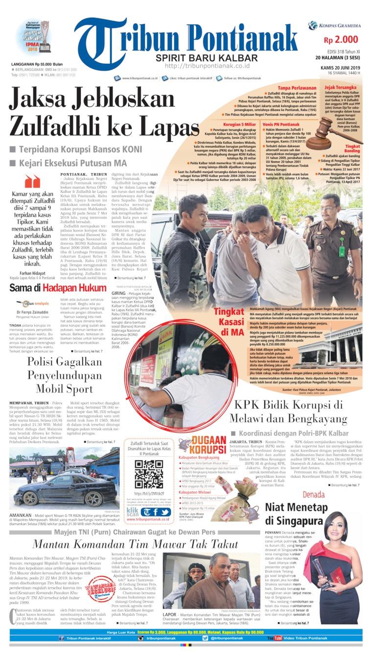 Koran Digital Tribun Pontianak 20 Juni 2019