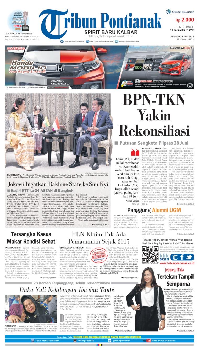 Koran Digital Tribun Pontianak 23 Juni 2019