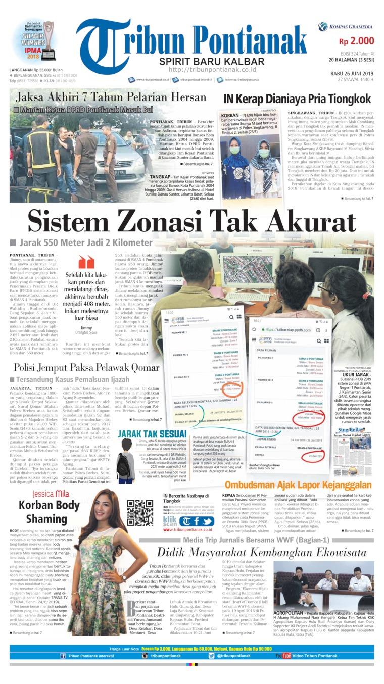 Koran Digital Tribun Pontianak 26 Juni 2019