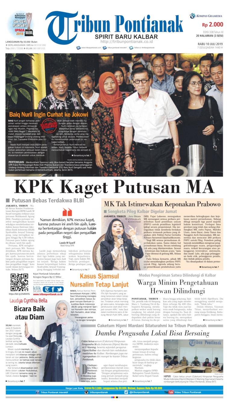 Tribun Pontianak Digital Newspaper 10 July 2019
