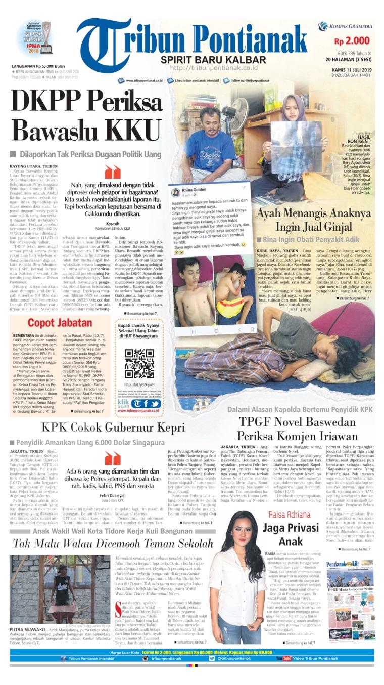 Koran Digital Tribun Pontianak 11 Juli 2019
