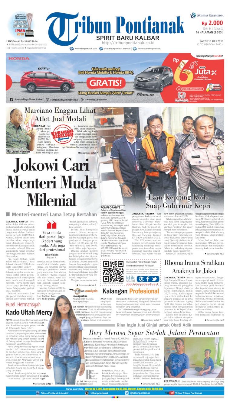 Tribun Pontianak Digital Newspaper 13 July 2019