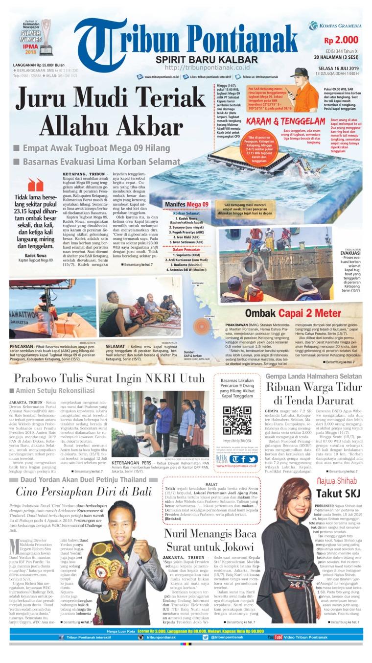 Koran Digital Tribun Pontianak 16 Juli 2019
