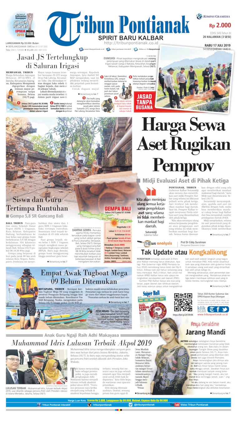 Tribun Pontianak Digital Newspaper 17 July 2019
