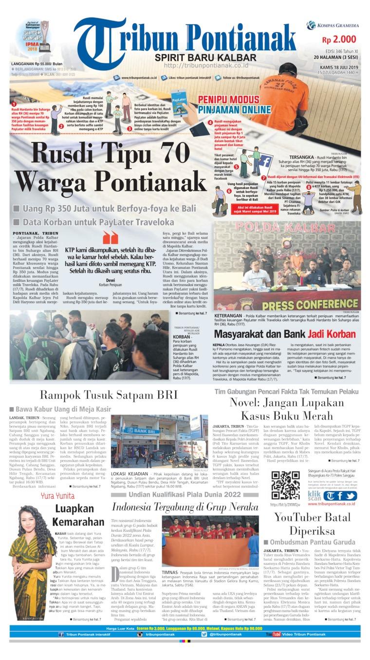 Tribun Pontianak Digital Newspaper 18 July 2019