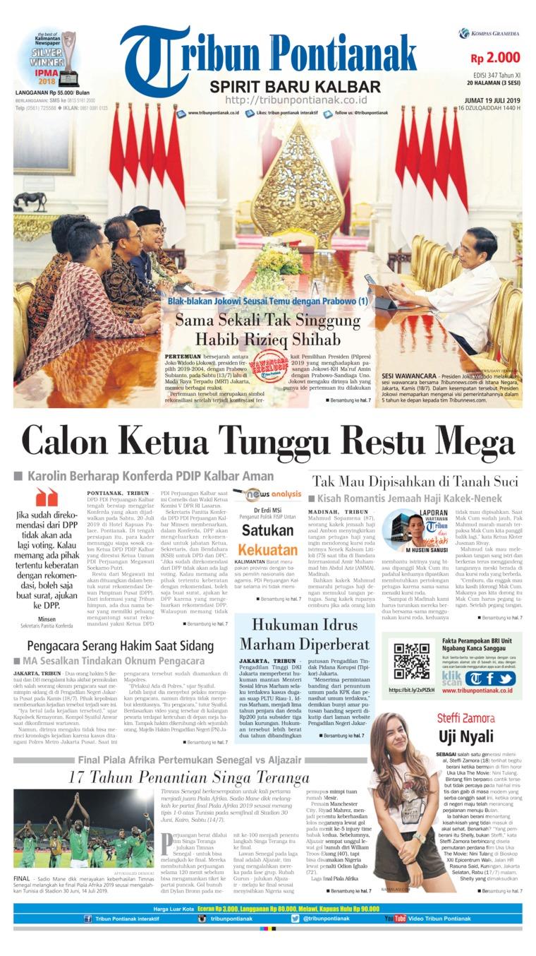 Tribun Pontianak Digital Newspaper 19 July 2019