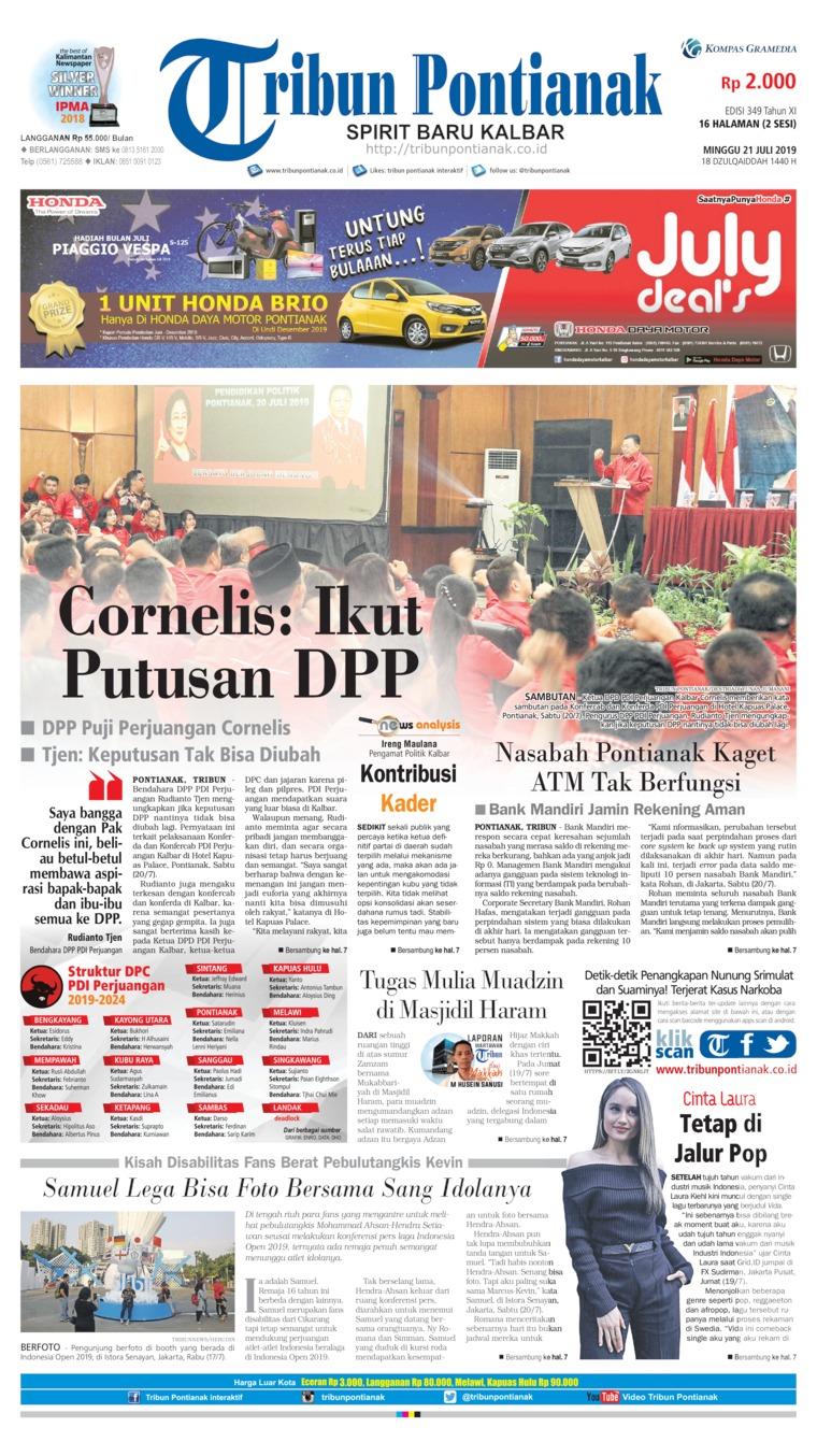 Tribun Pontianak Digital Newspaper 21 July 2019