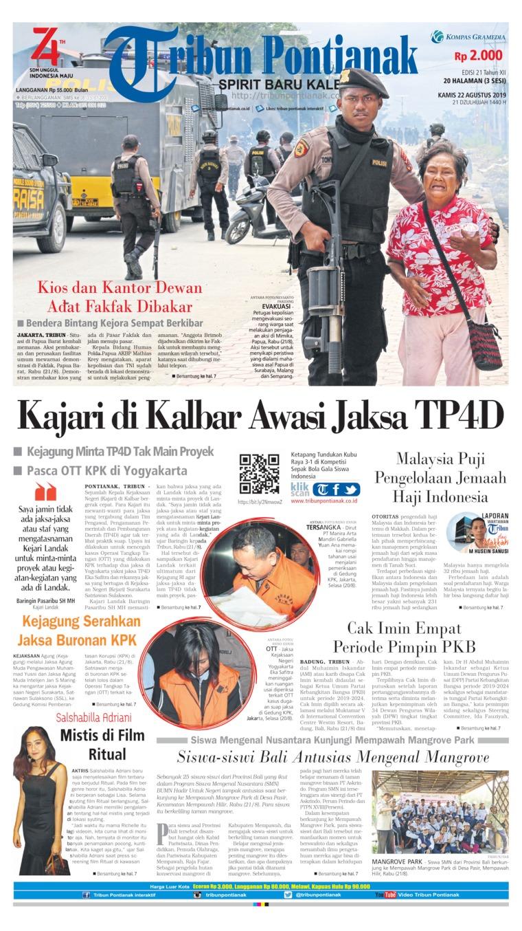 Koran Digital Tribun Pontianak 22 Agustus 2019