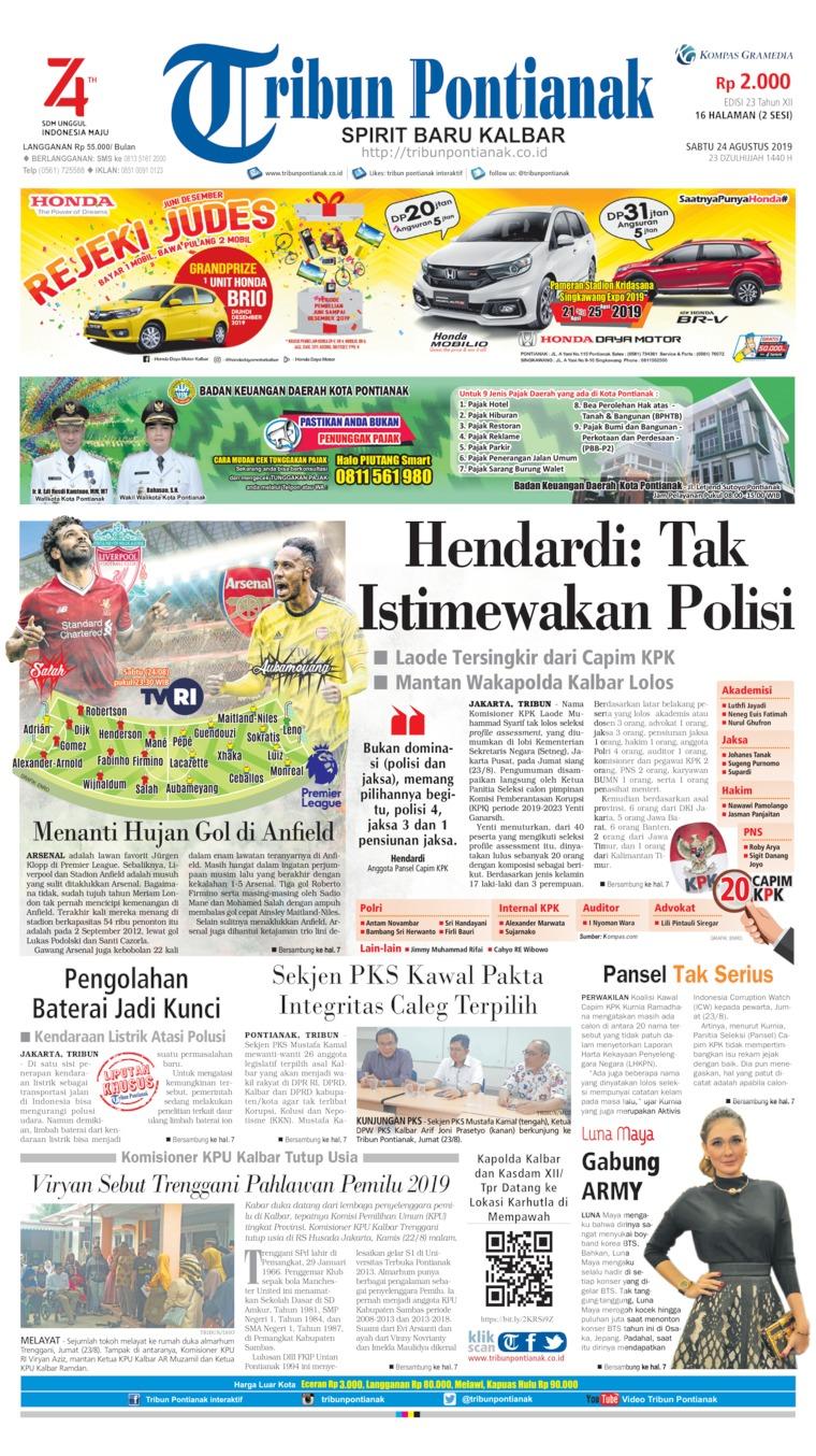 Koran Digital Tribun Pontianak 24 Agustus 2019