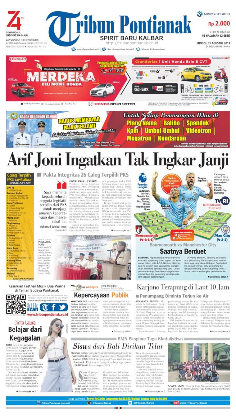 Koran Digital Tribun Pontianak 25 Agustus 2019