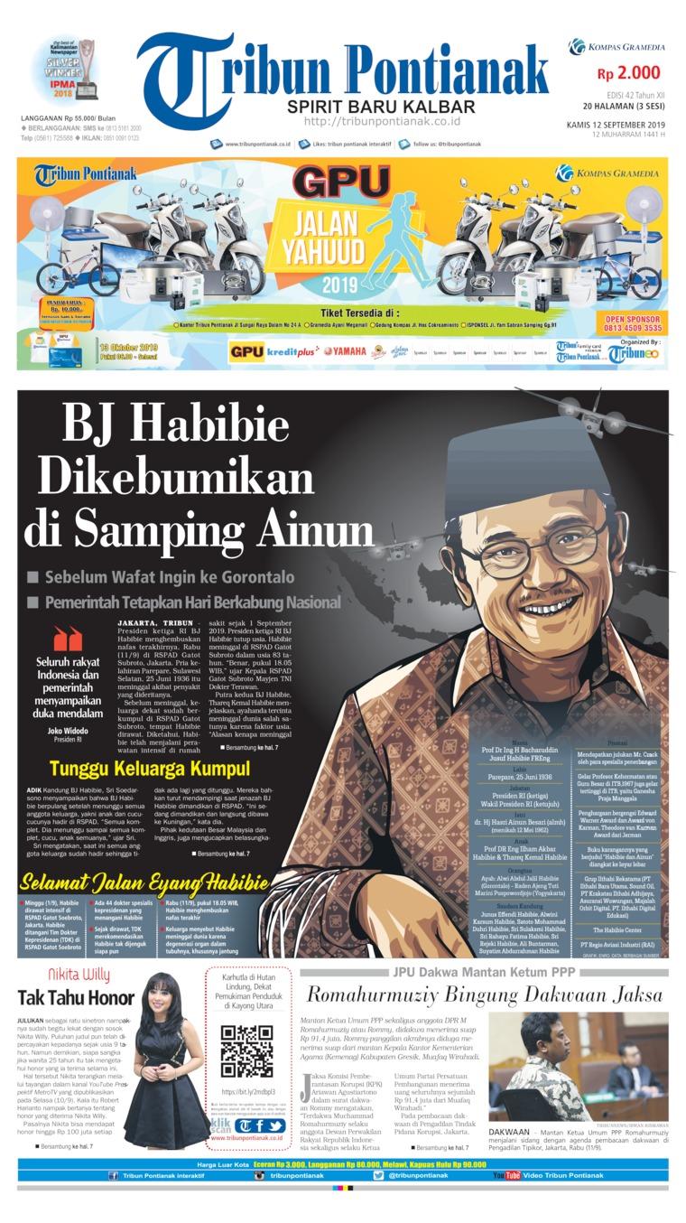 Tribun Pontianak Digital Newspaper 12 September 2019