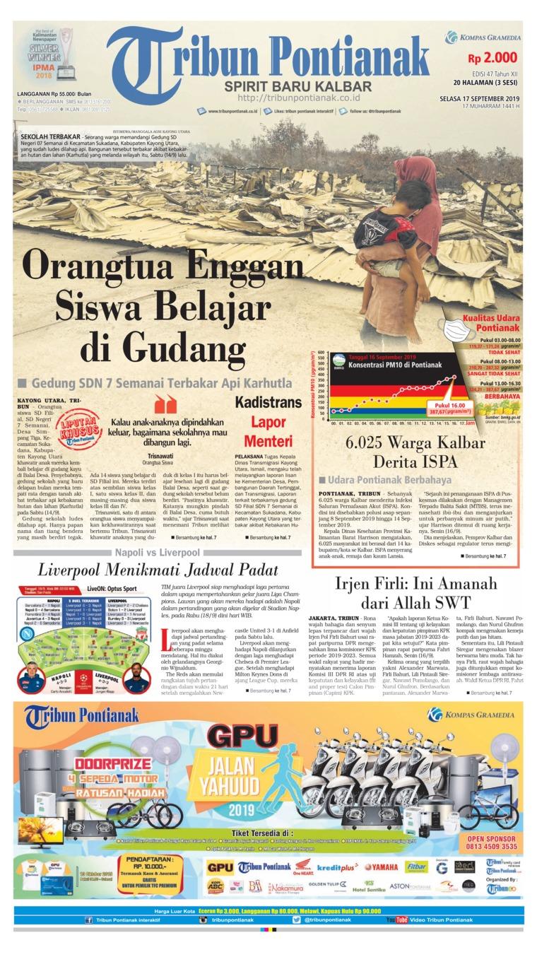 Tribun Pontianak Digital Newspaper 17 September 2019