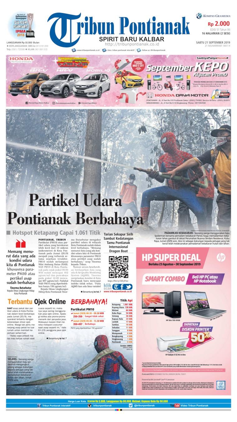 Tribun Pontianak Digital Newspaper 21 September 2019